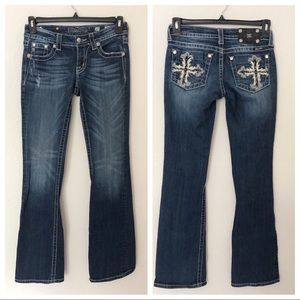 Miss Me Size 27 Boot Cut Embellished Jeans